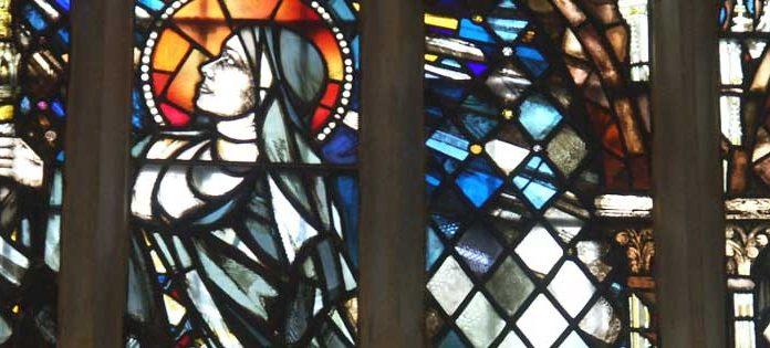 St Ethelburga Stained Glass Window