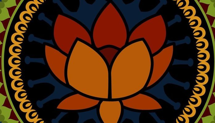 An image of a lotus in a mandala